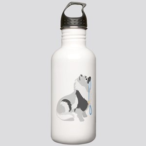 Keeshond Leash Stainless Water Bottle 1.0L