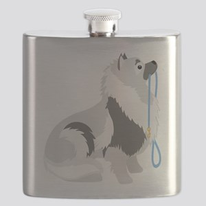 Keeshond Leash Flask