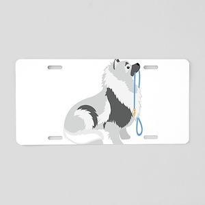 Keeshond Leash Aluminum License Plate