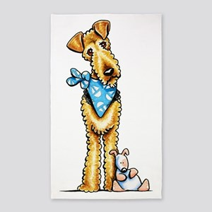 Airedale n Puppy 3'x5' Area Rug