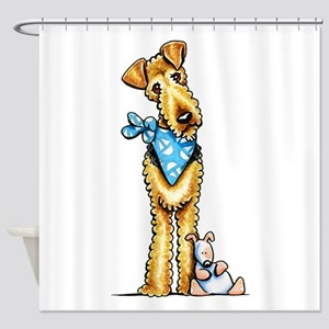 Airedale n Puppy Shower Curtain