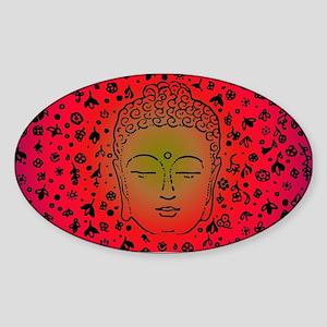 Buddha Pink by designeffects Sticker