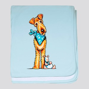 Airedale n Puppy baby blanket