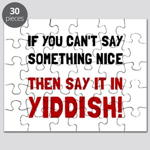 Say It In Yiddish Puzzle