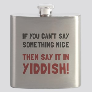 Say It In Yiddish Flask