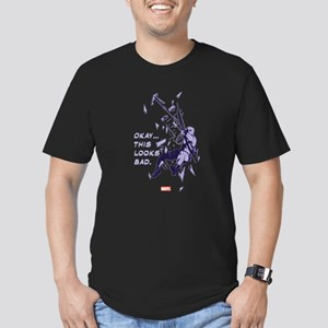 Hawkeye This Looks Bad Men's Fitted T-Shirt (dark)