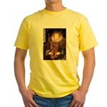 The Queen's Ruby Cavalier Yellow T-Shirt