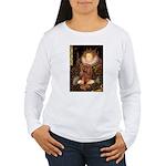 The Queen's Ruby Cavalier Women's Long Sleeve T-Sh