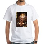 The Queen's Ruby Cavalier White T-Shirt
