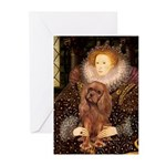 The Queen's Ruby Cavalier Greeting Cards (Pk of 10