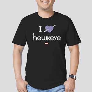 I Heart Hawkeye Purple Men's Fitted T-Shirt (dark)