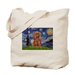 Starry Night Ruby Cavalier Tote Bag
