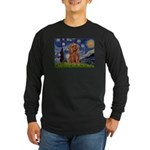 Starry Night Ruby Cavalier Long Sleeve Dark T-Shir