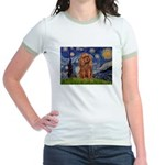 Starry Night Ruby Cavalier Jr. Ringer T-Shirt