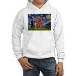 Starry Night Ruby Cavalier Hooded Sweatshirt