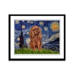 Starry Night Ruby Cavalier Framed Panel Print