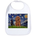 Starry Night Ruby Cavalier Bib