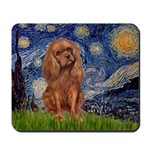 Starry Night Ruby Cavalier Mousepad