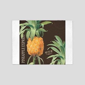Modern vintage tropical pineapple 5'x7'Area Rug