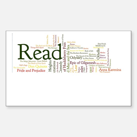 Literature's Best Books Sticker (Rectangle)