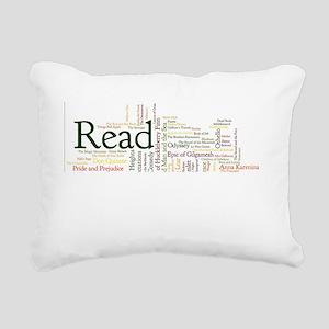 Literature's Best Books Rectangular Canvas Pillow