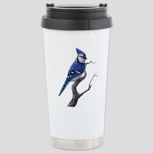 Blue Jay bird Stainless Steel Travel Mug
