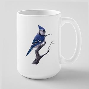 Blue Jay bird Large Mug