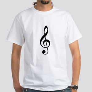 Treble Clef White T-Shirt