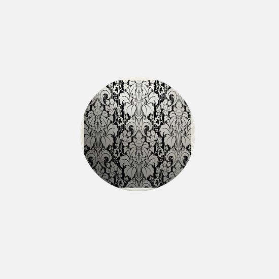 Cute Damask Mini Button