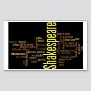 Shakespeare's Plays Sticker (Rectangle)