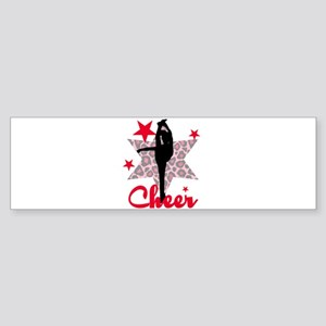 Red Cheerleader Bumper Sticker