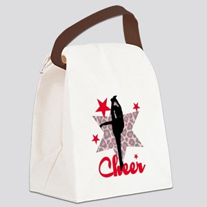 Red Cheerleader Canvas Lunch Bag
