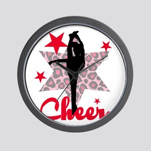 Red Cheerleader Wall Clock