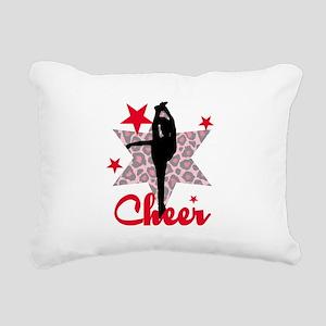 Red Cheerleader Rectangular Canvas Pillow