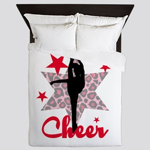 Red Cheerleader Queen Duvet
