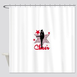 Red Cheerleader Shower Curtain