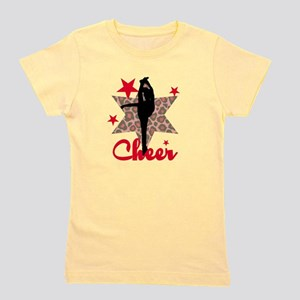 Red Cheerleader Girl's Tee