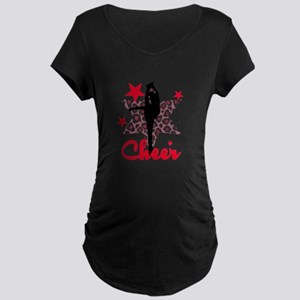 Red Cheerleader Maternity T-Shirt