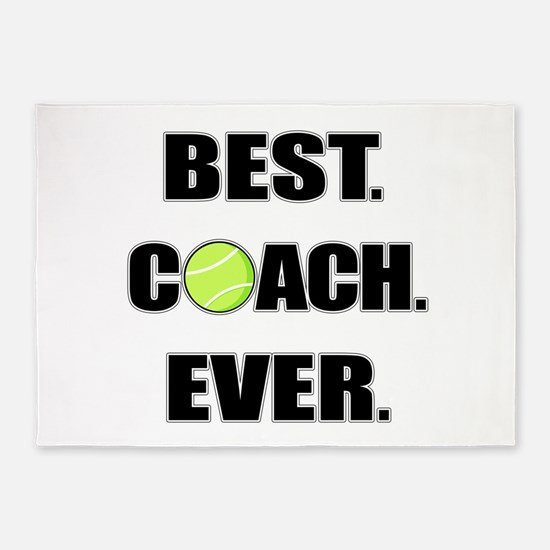 Best Coach Ever Tennis 5'x7'Area Rug