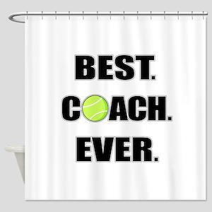 Best Coach Ever Tennis Shower Curtain