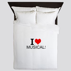 I Love Musicals Queen Duvet
