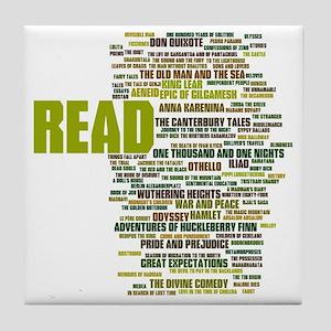READ!  The 100 Best Books of Literatu Tile Coaster