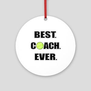 Best Coach Ever Tennis Ornament (Round)