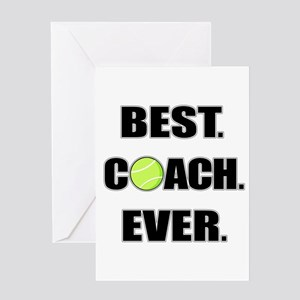 Tennis greeting cards cafepress best coach ever tennis greeting cards m4hsunfo Choice Image