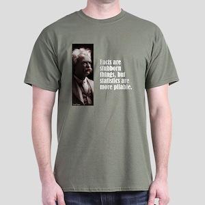 """Twain """"Facts"""" Dark T-Shirt"""