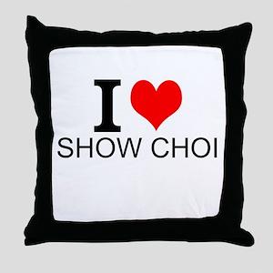I Love Show Choir Throw Pillow