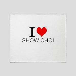 I Love Show Choir Throw Blanket