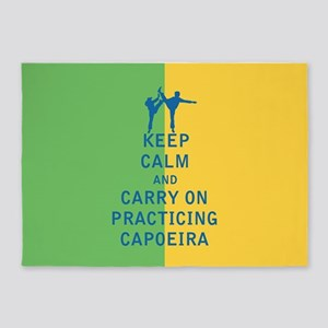 Keep Calm and Carry On Practicing Capoeira 5'x7'Ar