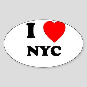 NYC Oval Sticker