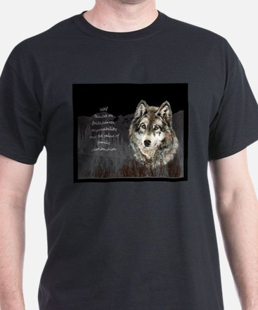 Wolf Totem Animal Spirit Guide for Inspiration T-S
